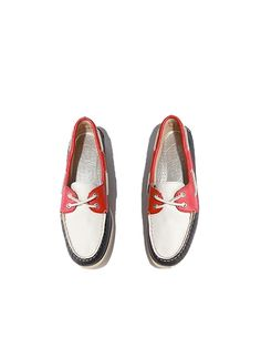 Whether you're spending Independence Day on a boat or by the shore—or even poolside—a pair of red, white and blue boat shoes are a preppy and comfortable outfit staple.