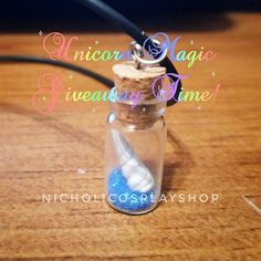 Unicorn Magic Dust Giveaway going on in instagram! #instagram #giveaway #unicorn #fairy #dust #magic #magical #creatures #mystical #cosplay #artist #alley #etsy #epiconetsy #etsyforall #cute #love #adorable #necklace