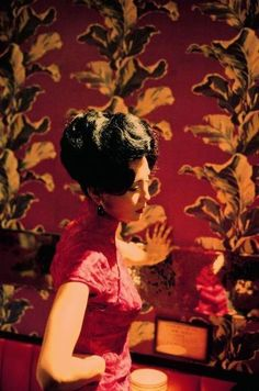 """wkwlovers: """" Maggie Cheung on the set of In the Mood for Love. She was born on September 1964 in Hong Kong. (Photography by Wing Shya) """" Happy Maggie Cheung. Tim Walker, Maggie Cheung, Old Shanghai, Eric Lafforgue, Steve Mccurry, Love Film, Mood, Through The Looking Glass, Girl Dancing"""