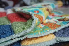 The Modern Housewife: Quilted Granny Square Baby Blanket