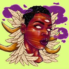 Art by Kokab Zohoori-Dossa  http://kokabzdart.bigcartel.com/products https://www.behance.net/kokabzd kokabzohooridossa@gmail.com http://kokabzd.tumblr.com https://www.instagram.com/kokabzd Progress. WIP. Carnelian.  #art #carnelian #crystal #digitalart #digitalpainting #blackart #blackwoman #WIP #drawing #illustration
