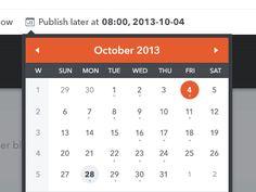 Calendar design found on Dribbble.