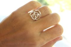 Tiny Lace Rose Ring Free Shipping by meltemsem on Etsy, $35.00