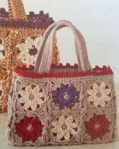 """New Cheap Bags. The location where building and construction meets style, beaded crochet is the act of using beads to decorate crocheted products. """"Crochet"""" is derived fro Free Crochet Bag, Crochet Purse Patterns, Crochet Shell Stitch, Crochet Tote, Crochet Handbags, Crochet Purses, Crochet Gifts, Knit Crochet, Granny Square Bag"""