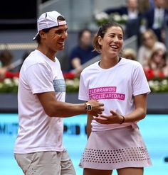 Rafa Nadal and Garbine Muguruza - 2016 MutuaMadridOpen charity day fun. - via WTA