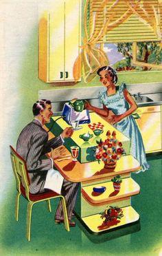 Breakfast 1950s