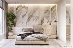 Calm, confident, authentic… This interior is a reflection of our vision of family which we created it for Condo Interior, Interior Design, Interior Ideas, Bedroom Bed Design, Master Bedroom, Green Bedroom Decor, Partition Design, Headboard Designs, Luxurious Bedrooms
