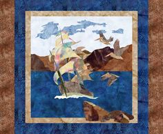 Pelicans over Pirate Bay Designed by Jenna Designed using Quilt Fusion Quilt Design Software