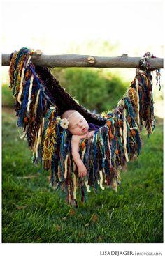 Rock-a-bye Baby Swing Nest Hanging Hammock Prop by BabyBirdz