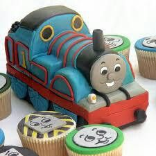 Thomas & friends cake & cup cakes