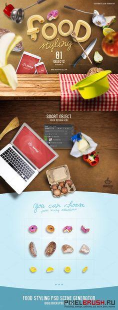 Food Styling PSD Scene Generator - 240939
