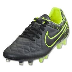 uk availability 74acb 6c58a 2015 Nike Tiempo Legend V FG Soccer Cleats Anthracite-Black-Volt UPPER   Waterproof