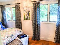 Bedroom Makeover — Vintage Refined - blue and white bedroom