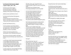 Let America Be America Again -Langston Hughes, (1902-1967)