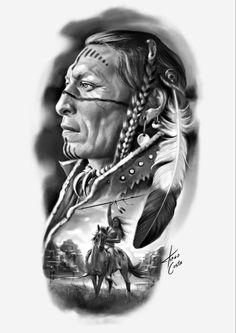 American Indian Girl, Native American Girls, Native American Pictures, Native American Artwork, American Indians, Native American Drawing, Native Indian Tattoos, Indian Skull Tattoos, Native American Tattoos