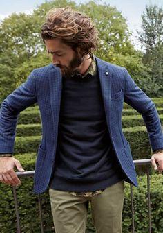 【柄シャツが肝!】紺ジャケコーデを上級者らしく見せる方法(メンズ) | Italy Web