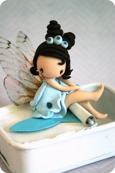 Sea Fairy Figurine by TheDollAndThePea on Etsy