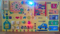 Occupato a bordo, 35 elementi attività bordo, bordo sensoriale, giocattolo educativo Montessori, giocattolo di legno, bordo, giocattoli del bambino di fermo