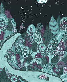 Touch the Stars by Abbey Lossing, via Behance