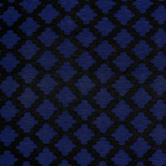 "Vintage Black Royal Blue Moroccan Lattice Cotton Spandex Blend Knit Fabric - On trend moroccan lattice design in black and royal blue on a soft cotton spandex rayon blend jersey knit.  Fabric is lighter weight, 4 way stretch, and soft and drapey.  Lattice square measures 1 1/2"" (see image for scale).  A versatile fabric great for many uses!  ::  $6.25"