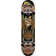 Darkstar Skateboards Harley Davidson Eagle Complete Skateboard - 8 x 31 - Warehouse Skateboards