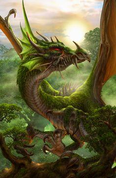 °緑竜 by Ucchiey