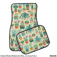 Cactus Flower Pattern Car Floor Mat - Make your car look the best. Clean Car Mats, How To Grow Cactus, Volkswagen, Honda, Bmw, Car Floor Mats, Cute Cars, Fancy Cars, Car Shop
