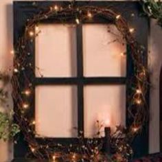 Old window frame made into something beautiful! Add pics to each quadrant and WO. - Old window frame made into something beautiful! Add pics to each quadrant and WOW! Country Crafts, Country Decor, Rustic Decor, Old Window Frames, Window Art, Window Ideas, Window Panes, Window Lights, Primitive Crafts