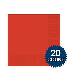 Red 3Ply Beverage Napkins 20 ct  Party Supplies * Check out this great product.