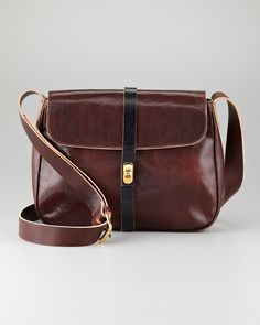 Marni Flaptop Leather Crossbody Bag Brown in Brown | Lyst