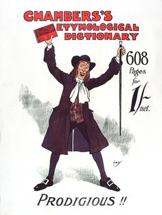 Chamber's Etymological Dictionary poster, 1903. Catalogue ref: COPY 1/208B (22)