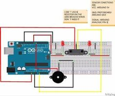 Arduino IR Alarm: Okay, this is the list of the materials we need to build our infrared Infrared Proximity Piezo Arduino Bredboard cable Dc Circuit, Electronics Projects, New Job, Floor Plans, Raspberry, Led, Raspberries, Floor Plan Drawing
