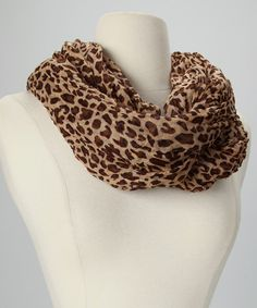 Take a look at this Brown Leopard Infinity Scarf by Inspired Essentials: Fall Scarves on #zulily today!