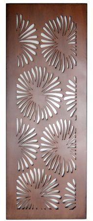 Home :: Metal Wall Art :: Flowers, Leaves & Trees :: Flower Design Laser Cut Metal Art for Garden Wall