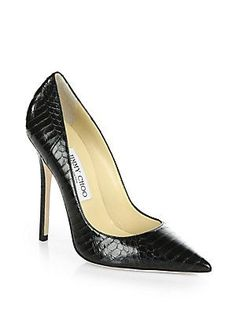 Jimmy+Choo Anouk+Snakeskin+Pumps - always to narrow for my wide flat feet but a girl can dream....stick to Ferragamo's and Manolo's i guess