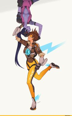 Tracer,Overwatch,Blizzard,Blizzard Entertainment,фэндомы,Widowmaker,WidowTracer,Overwatch Other,robohero