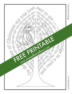 free christmas adult colouring page. A stunning christmas free printable with a festive quote.