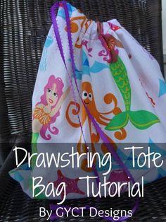 Drawstring Tote Bag  | Craftsy