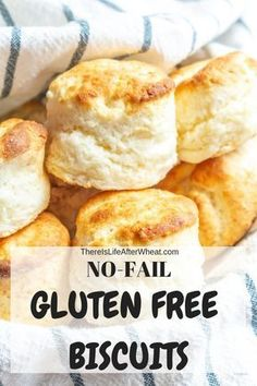 Unbelievably fluffy no fail gluten free biscuits! The ULTIMA.- Unbelievably fluffy no fail gluten free biscuits! The ULTIMATE gluten free biscu… Unbelievably fluffy no fail gluten free biscuits! The ULTIMATE gluten free biscuit recipe! Dairy Free Bread, Dairy Free Snacks, Dairy Free Breakfasts, Dairy Free Recipes, Gf Recipes, Chicken Recipes, Wheat Free Recipes, Gluten Free Treats, Easy Gluten Free Bread Recipe