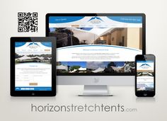 The new online home of Horizon Stretch Tents. Got Quotes, Showcase Design, News Online, Tents, Web Design, Teepees, Design Web, Window Scarf, Tent