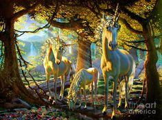 Unicorn Forest by Adrian Chesterman