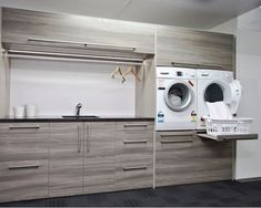 7 Small Laundry Room Design Ideas - Des Home Design Small Laundry Rooms, Laundry Room Organization, Laundry In Bathroom, Organization Ideas, Storage Ideas, Storage Shelves, Bathroom Storage, Ikea Laundry Room, Basement Laundry