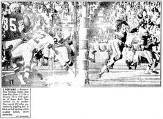 "Photos of football's Super Bowl I, published in the Boston Record American newspaper (Boston, Massachusetts), 16 January 1967. Read more on the GenealogyBank blog: ""Game On! A Brief Genealogy & History of the Super Bowl."""