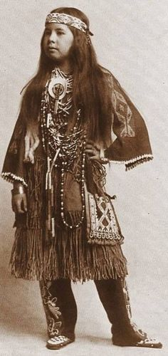 White Deer. Born Esther Louise Georgette Deer of Chief James Deer and Georgette Osborne Deer (Iroquois Tribe, Mohawk - Akwesasne people of the St. Lawrence Seaway region) in 1891.: