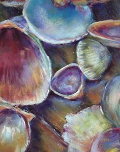Sea shell oil painting