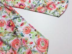 Návod jak ušít dámskou tuniku + střih ve velikostech 32 - 62 Floral Tie, Tunic