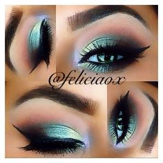 ⠀⠀⠀⠀⠀⠀⠀⠀⠀    R E D  H E A D ? @feliciaox Green smokey eye ...Instagram... ❤ liked on Polyvore featuring beauty products