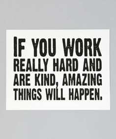 Another great find on #zulily! White & Black 'Work Really Hard' Print by IScreenYouScreen #zulilyfinds