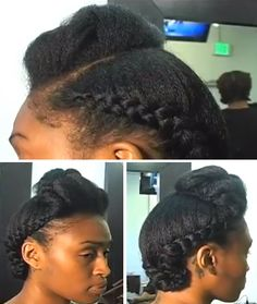 natural sew in hairstyles : Natural Professional updo by Tamika Fletcher #naturalhair #curlyhair ...