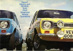 Escort Mk1, Ford Escort, Uk Europe, Poster Ads, Car Ford, Sales And Marketing, Old Cars, Vintage Cars, Mexico